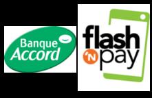 Logos Banque Accord et flashN'pay